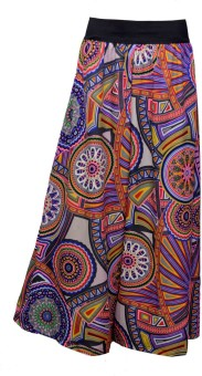 Shopingfever Multi Color Circle Print Regular Fit Women's Trousers