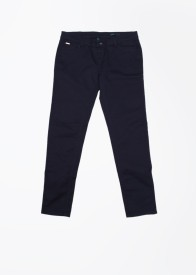 United Colors of Benetton Slim Fit Women's Dark Blue Trousers