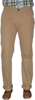 S2S Slim Fit Men's Beige Trousers