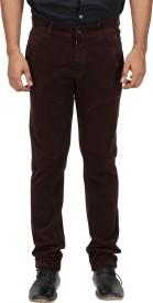 Inspire Slim Fit Men's Brown Trousers