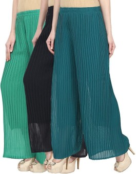 Glitterss Regular Fit Women's Green, Blue, Green Trousers