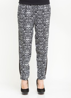 Oxolloxo Floral Pencil Regular Fit Women's Trousers