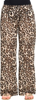 Oxolloxo Animal Print Regular Fit Women's Trousers