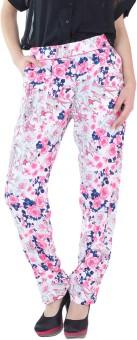 Fashion205 Printed Crepe Regular Fit Women's Trousers - TROE3UVJCUFCUPFZ