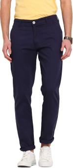 Ennoble Slim Fit Men's Blue Trousers
