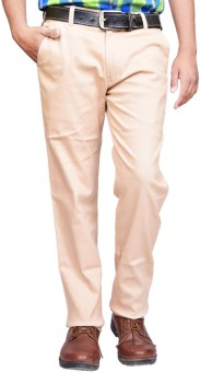 British Terminal Slim Fit Men's Beige Trousers