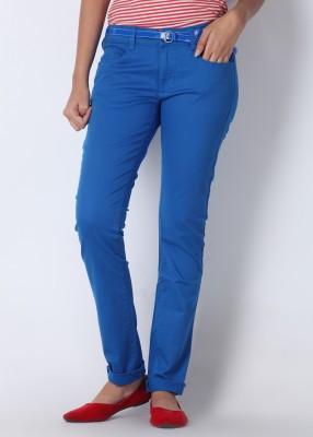 Wrangler Wrangler Slim Fit Women's Trousers (Blue)