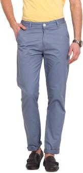 Ennoble Slim Fit Men's Blue Trousers - TROEGZNYX8YN4BCF