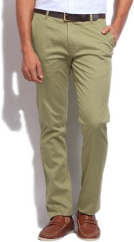 NUMERO UNO Slim Fit Men's Beige Trousers
