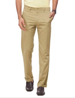 Live In Regular Fit, Slim Fit Men's Brown Trousers
