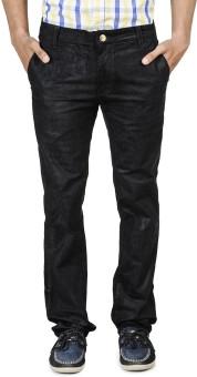 Blimey Stretchable-Corduroy-Black Slim Fit Men's Trousers