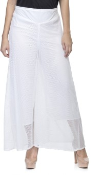 One Femme Regular Fit Women's White Trousers