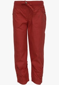 Cool Quotient Regular Fit Girl's Red Trousers