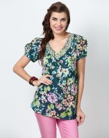 Love From India Floral Print Women's Tunic - TUNEYC4GNYNHUZSK