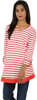 Kriti Western Maternity Striped Women's Tunic - TUNE3FCUAYFKE9RB