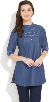 Enah Solid Women's Tunic