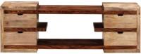 HomeEdge Solid Wood Entertainment Unit (Finish Color - Dual Tone)