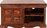 HomeTown Tuskar Solid Wood Entertainment Unit (Finish Color - Walnut)