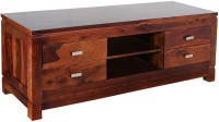 Smart Choice Furniture Solid Wood Entertainment Unit (Finish Color - Honey)