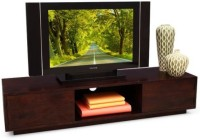 HomeEdge Solid Wood Entertainment Unit (Finish Color - Honey Dark)