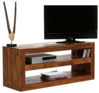 HomeEdge Solid Wood Entertainment Unit (Finish Color - Honey) - TVUEH3GAUVZXZVZB