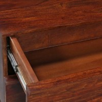 HomeEdge Solid Wood Entertainment Unit (Finish Color - Walnut Light)