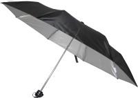 Fendo Hand Open 3 Fold Nylon Fabric Black Twister Umbrella (Black)