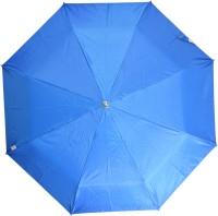 Fendo 3 Fold Nylon Fabric H/O Ladies Blue Umbrella Umbrella (Blue)