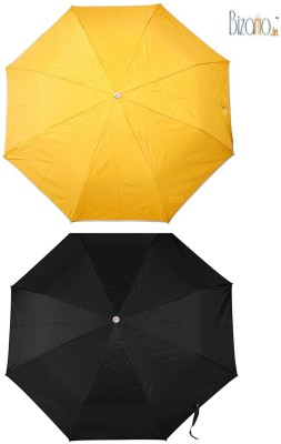 Bizarro.in BIU-1135570CTCB-BLK-YEL-COMBO-Set of 2 Umbrella