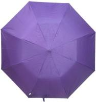Fendo Auto Open 2 Fold Nylon Women Strawberry _e Umbrella (Purple)