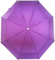 Fendo Auto Open 3 Fold Nylon Women Kareena _a Umbrella (Purple)