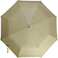 Fendo 3 Fold Nylon Fabric H/O Ladies Beidge Umbrella Umbrella (Beige)