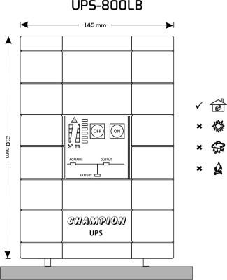 UPS-800LB Line Interactive Sine-Wave UPS (External Battery)