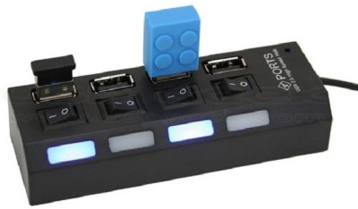 Roq Power Strip Styled 4 Port Usb Hub With Independent Switches