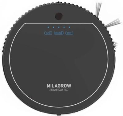 Milagrow Blackcat 3.0 Robotic Floor Cleaner (Blackest Black)