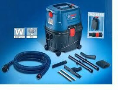 Bosch Gas 15/Gas Ps Wet & Dry Cleaner (Blue, Black)