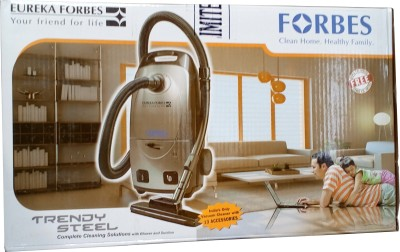 Eureka Forbes Trendy Steel Dry Vacuum Cleaner (Steel Grey)