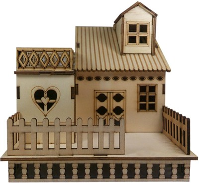 Huppme Wooden House Valentine Gift Set. Wooden House Showpiece - Home Small House made of Wood. Is one of the best gift