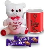 SKY TRENDS SKY TRENDS I Love You Choco flavour Mug Teddy and Chocolate Valentine Gift Set Valentine Gift Set