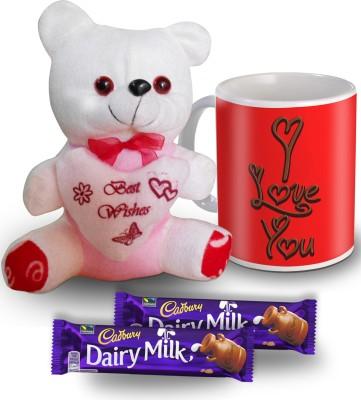 SKY TRENDS SKY TRENDS I Love You Choco flavour Mug Teddy and Chocolate Valentine Gift Set Gift Set