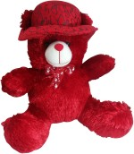 Saugat Traders Soft Toys Saugat Traders Red Cap Teddy 13.2 Inch