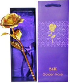 HomeSoGood 24K Gold Rose With Gift Box Gift Set