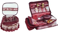 Bahurani Boutique Combo Of Fril Makeup Vanity Multi Purpose (Maroon)