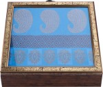 The Nodding Head Vanity Boxes The Nodding Head Handmade Wooden With Blue Embroidered Background Jewellery Vanity Box