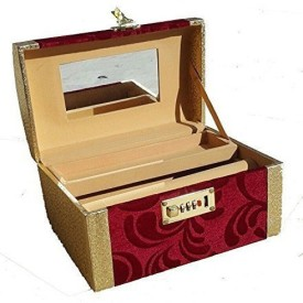 Kuber Industries Palki Box / Cosmetic / Bangle Kit in heavy Hard Coated Material With Lock Make Up Vanity Jewellery