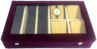 Addyz Goggle Storage Watch Box Wine, Holds 7 Watches