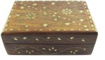 Pindia Vanity Boxes Pindia Beautiful Wooden Small With Brass Inlay Work Jewellery Vanity Case