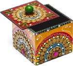 Aapno Rajasthan Vanity Boxes Aapno Rajasthan Wood And Clay Utility Box With Hand Painted Work Jewellery Vanity Case