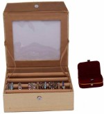 Kuber Industries Vanity Boxes Kuber Industries Bangle Four Roll & Ring Box Jewellery Vanity Multi Purpose