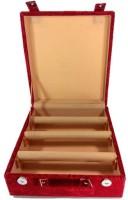 Addyz Jewelry Bangle Box Plain-3 Rods Jewelry Storage Vanity Box (Maroon)